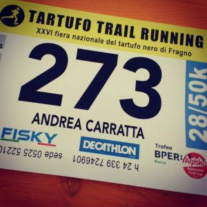 Tartufo Trail 2016 - Pettorale