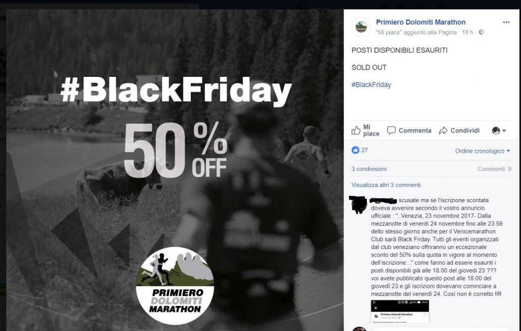Primiero Dolomiti Marathon & Black Friday